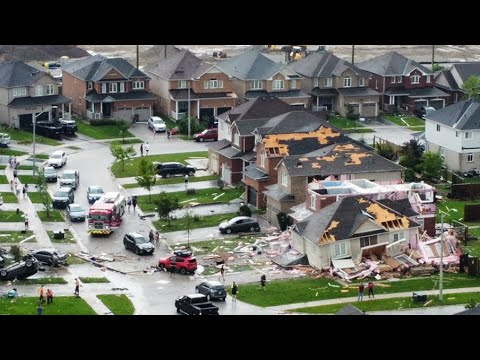 Barrie, Ont. hit by sudden tornado, damage and injuries reported