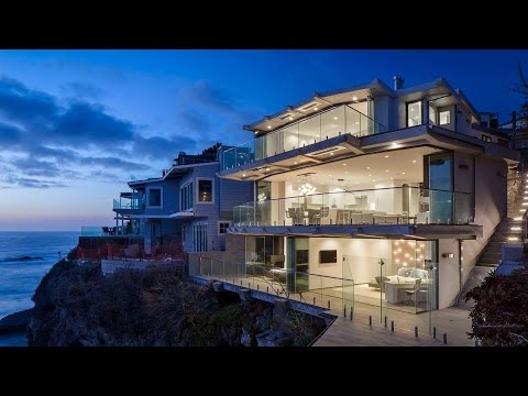 $12,5 Million Dreamy Oceanfront Luxury Home, California, USA (by Mark Abel and Myca Loar)