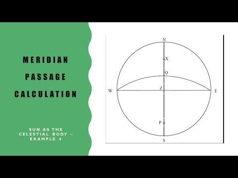How to calculate ship's latitude using the meridian altitude