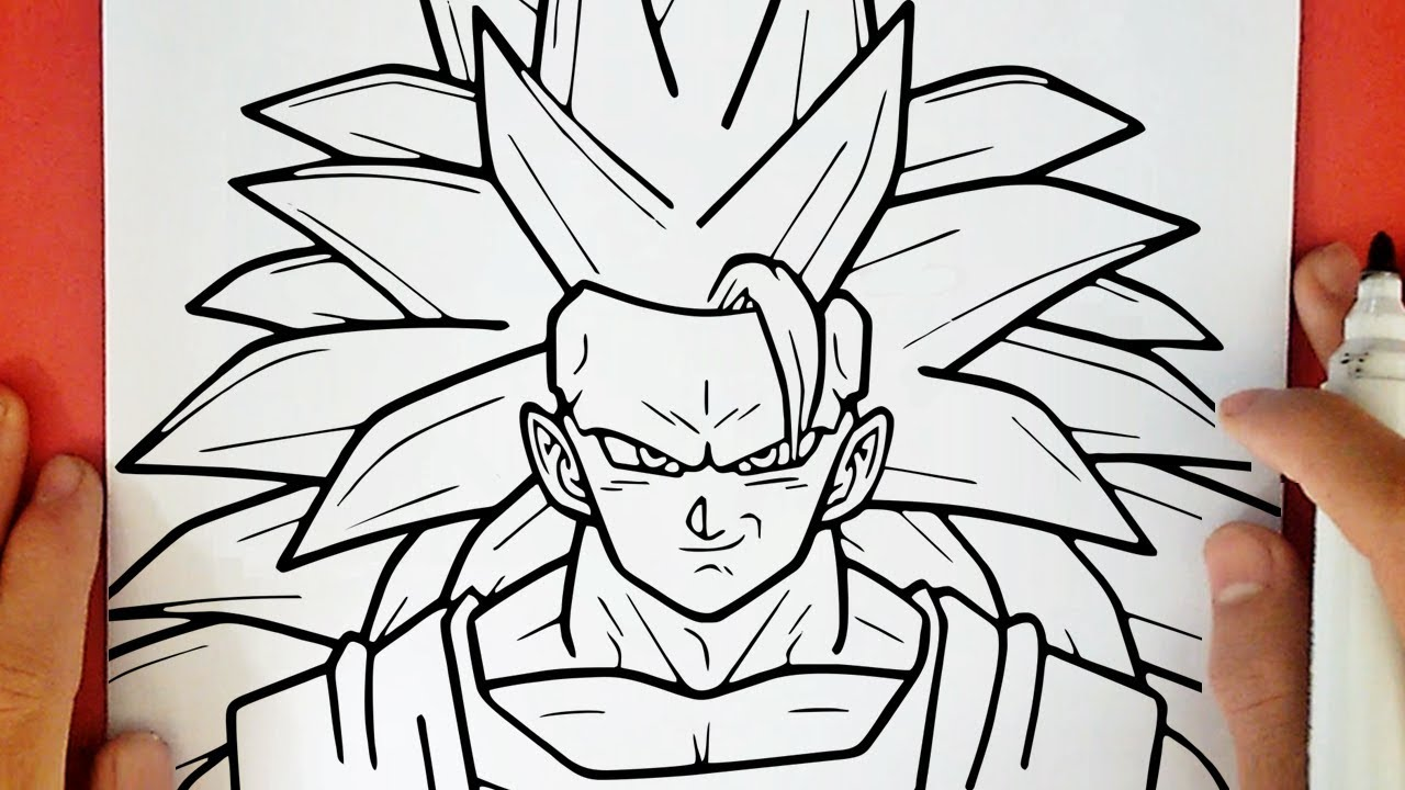 Comment Dessiner Goku Super Saiyan 3 Youtube