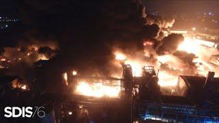 Incendie de Rouen: images de drone des pompiers | AFP Images