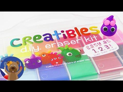 DIY Gumy Na Gumování - Cool Set Creatibles - 12 Barev