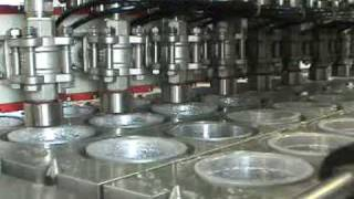 Mineral water filling and sealing machine