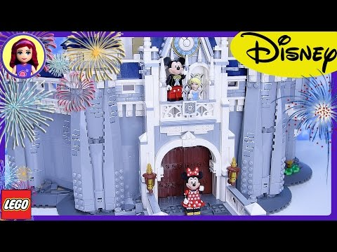 LEGO The Disney Castle Build Review Silly Play Part 1 Princess Cinderella - Kids Toys