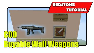Buyable Wall Weapons for COD Maps (Minecraft Xbox TU24/CU12/PlayStation CL1.16)