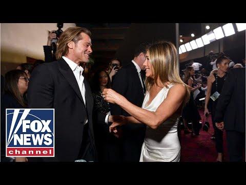 Brad Pitt, Jennifer Aniston Reunite Backstage After SAG Award Wins