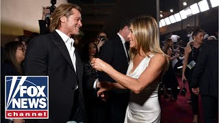 Brad Pitt, Jennifer Aniston reunite backstage after SAG Award wins