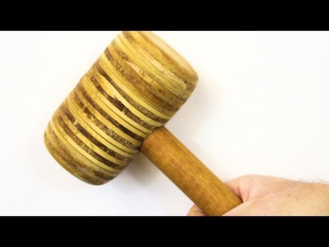 How to make a Wooden Mallet with Plywood - The BumbleBee Mallet