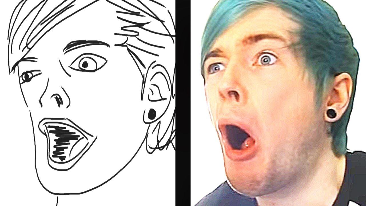 It is an image of Amazing Dantdm Drawing Challenge