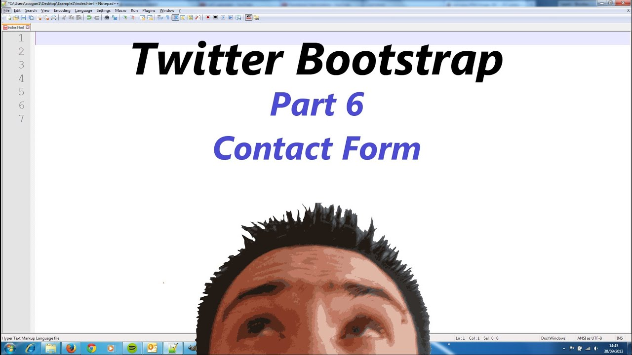 Twitter bootstrap part 6 contact form youtube twitter bootstrap part 6 contact form falaconquin