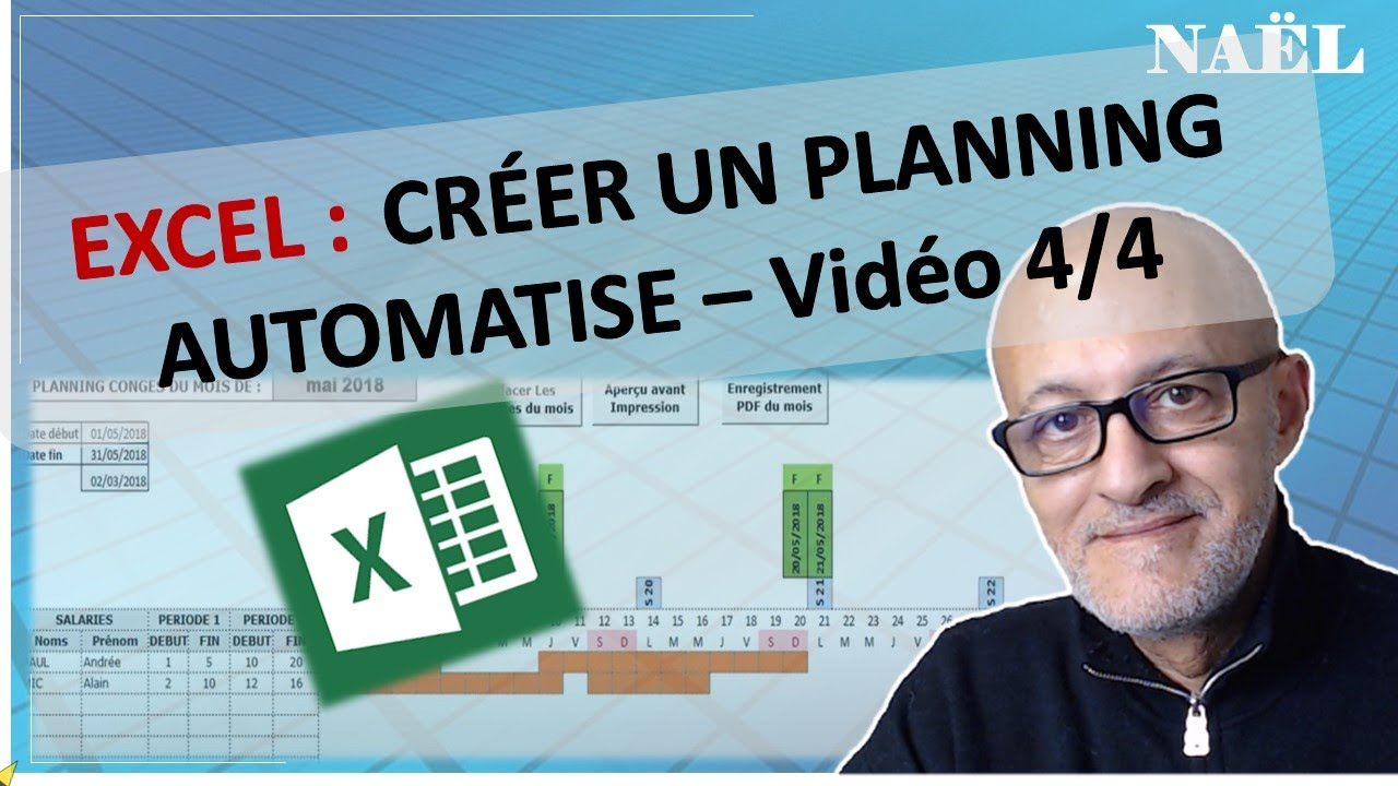 Calendrier Annee Bissextile.Excel Planning 4 4 Annee Bissextile Jours Feries Automatises
