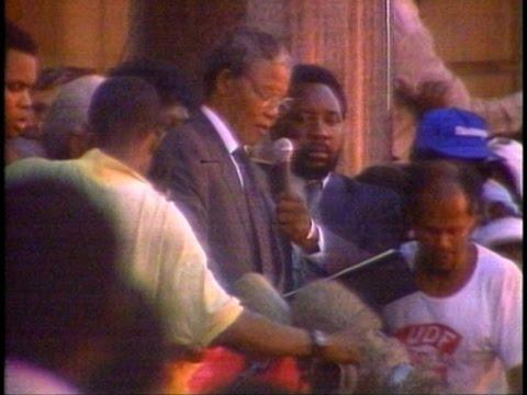 Nelson Mandela Released Feb 11, 1990