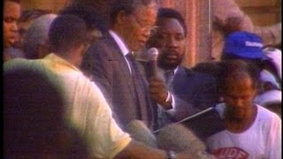 Nelson Mandela Released Feb 11, 1990
