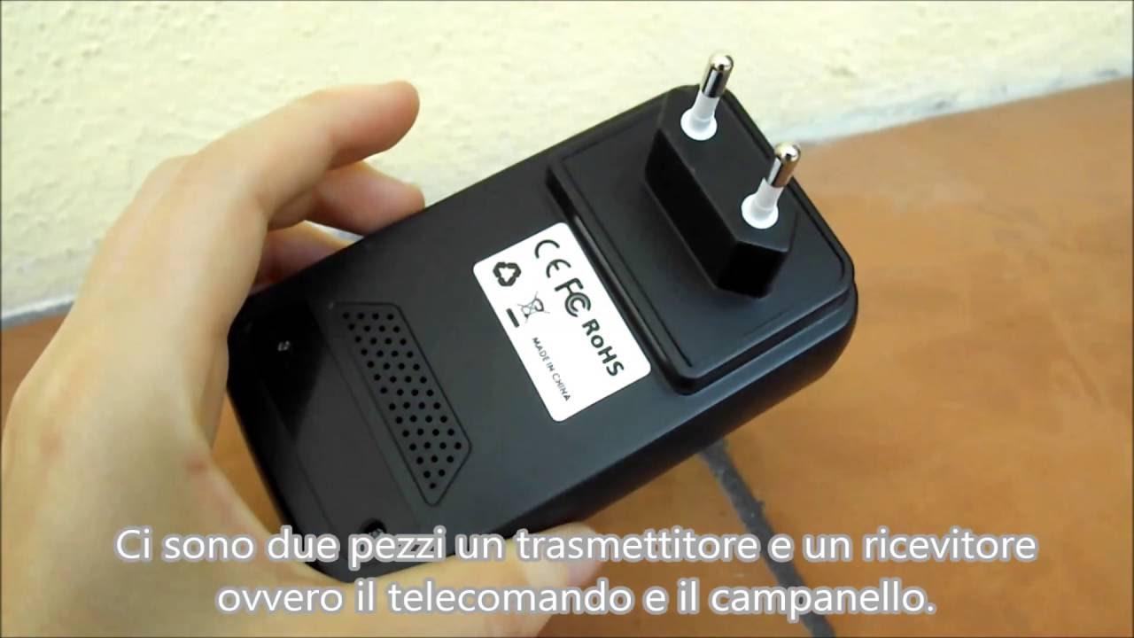 Campanello wireless senza fili impermeabile elettrico 360 - Campanello senza fili da esterno ...