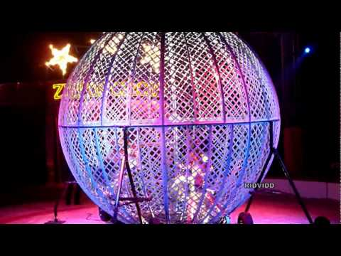 Motorcycle Globe Of Death  - Zippos Circus - High Wycombe -