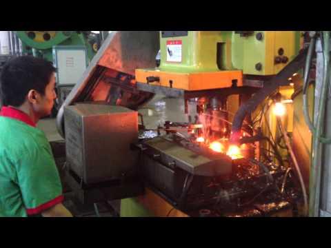 Automatic nut forging press equipment