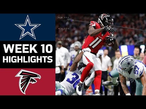 Cowboys vs. Falcons | NFL Week 10 Game Highlights