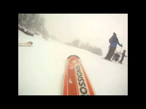 The fall: GoPro camera fixed on the ski boardwmv