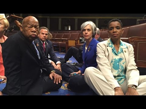 Democrats Stage Sit-In Protest In Congress