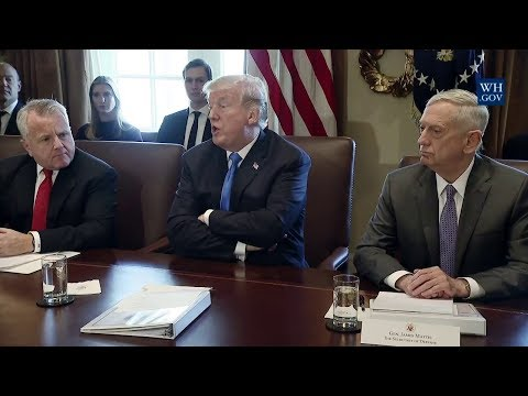 Watch Now: President Donald Trump meets with his cabinet