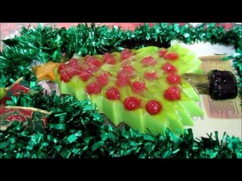 arbol de navidad gelatina economica