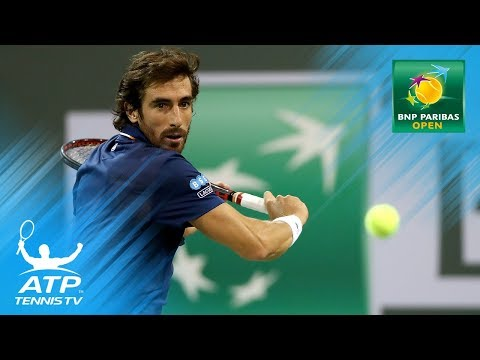 Pablo Cuevas saves NINE match points against Chung!   Indian Wells 2018