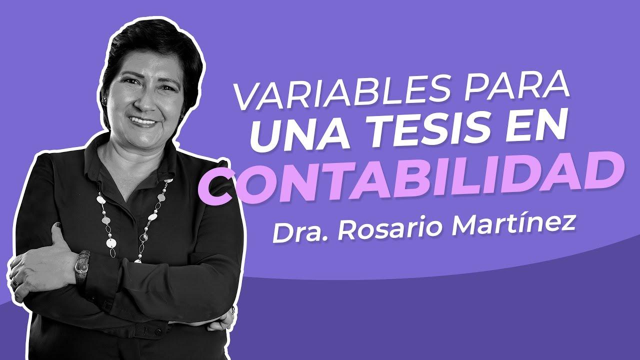 Variables para una Tesis en Contabilidad