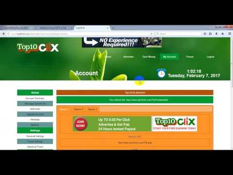 top10clix bangla tutorial 100% Trust site