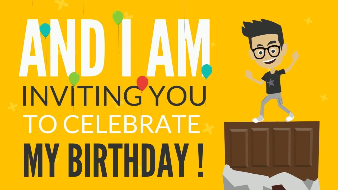 Original birthday invitation youtube original birthday invitation stopboris Choice Image