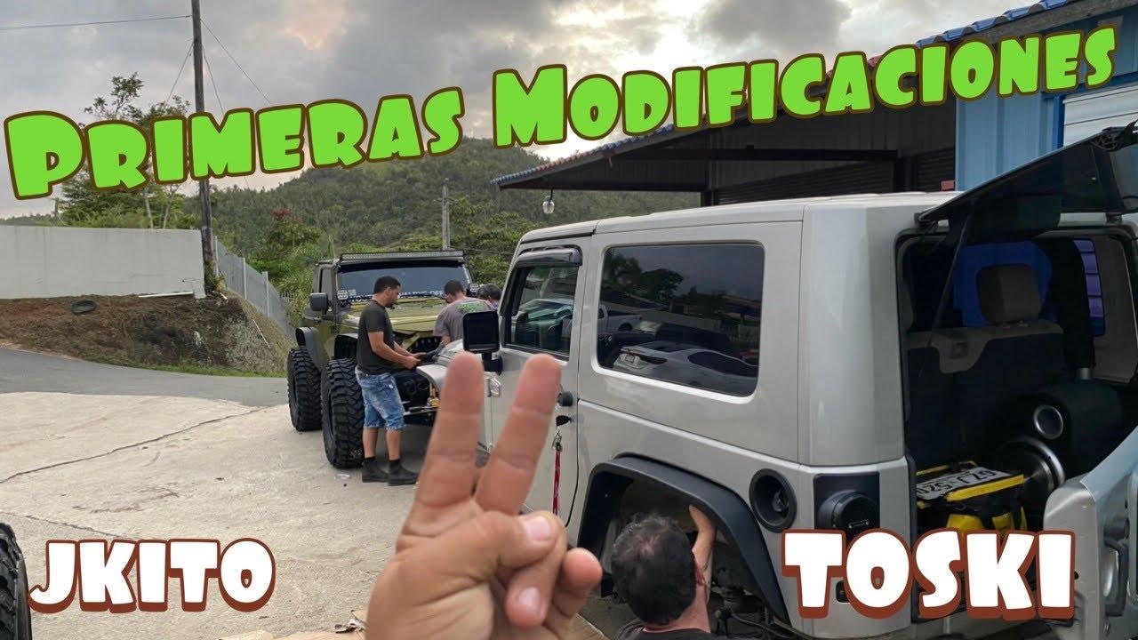 Primeras Modificaciones al los Jeeps de Andres y Hueso! El JKITO y el Toski!! By Waldys Off Road