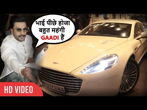 Media Attacks On Ranveer Singh's Luxury Car at Mumbai Airport | Ranveer Deepika Marriage