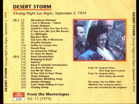 ELVIS PRESLEY,  DESERT STORM 1974