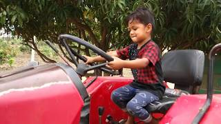 Kids Working with BIG Tractor | Video for Kids | Tractor Video