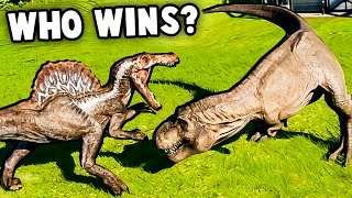 Jurassic World Evolution Gameplay Part 4 - Dinosaur Fights! Spinosa...