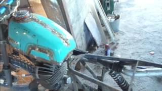ремонт мото //иж //переделка сидения