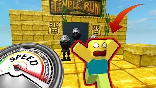 CAN YOU DO THIS at 180 km/h? TEMPLE RUN ROBLOX ENGLISH 2017 #6 with Manucraft, TinenQa, ElTrollino