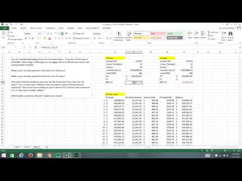 Loan Amortization and NPV of Interest Pmt XGA