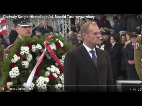 Donald Tusk wygwizdany - Obchody 11 Listopada 2017 - Warszawa