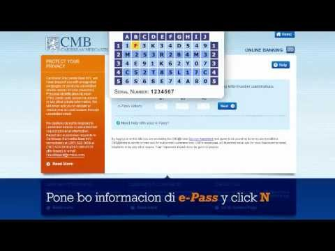 CMB Online Banking Demo Your Accounts - Papiamento