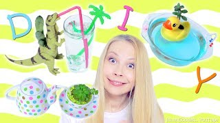 How To Make Cute Self-Watering Planters – Dinosaur, Yellow Rubber Duck and Tea Party