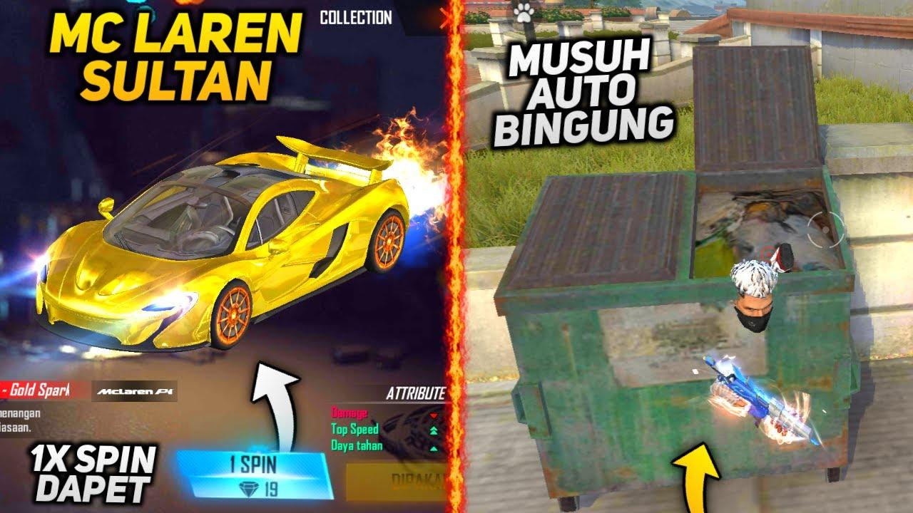 TOP 5 TRIK DAN BUG TERBARU DI FREE FIRE - McLaren Emas !!