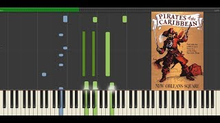 Pirates Of The Caribbean - Yo Ho (Disneyland) Tutorial Piano Covered by kno