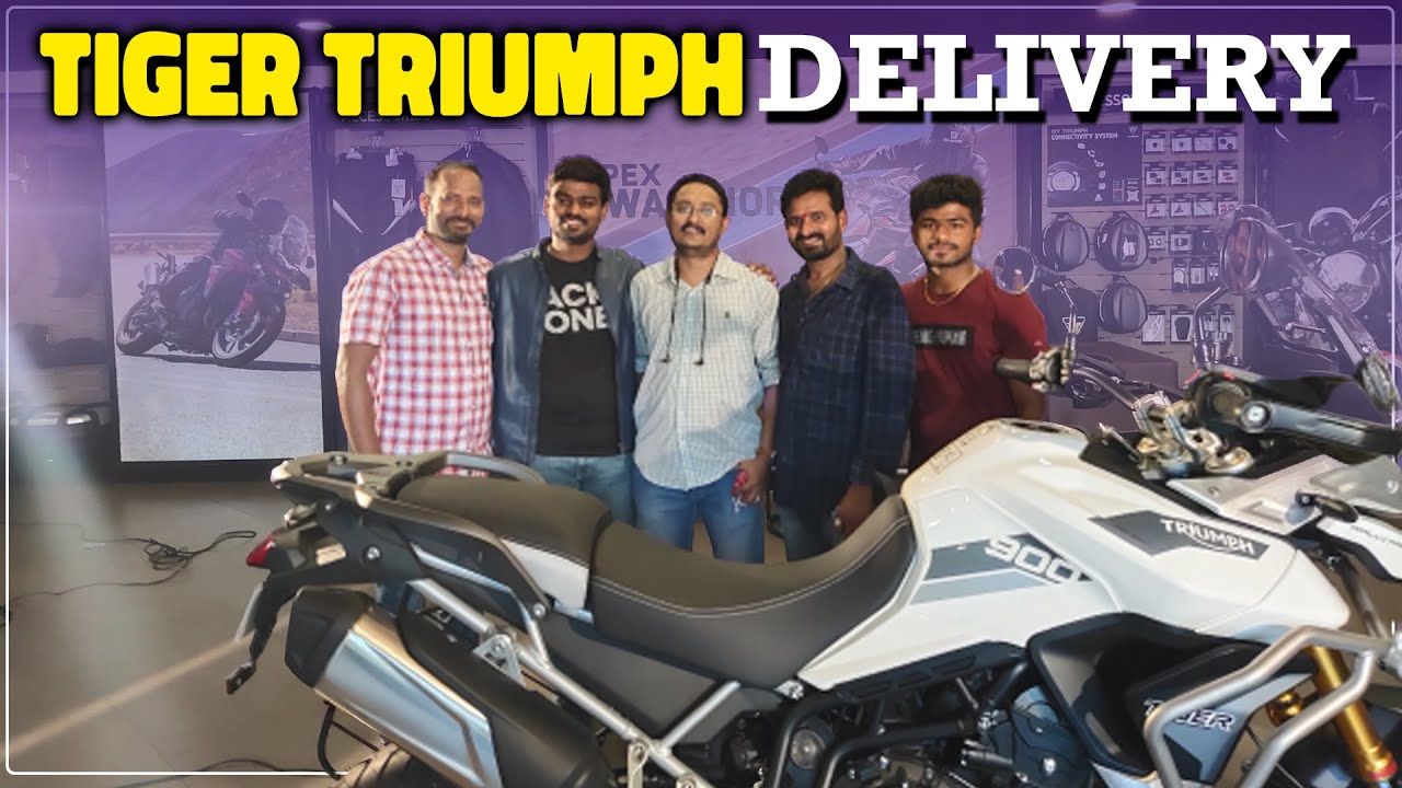 Taking Delivery of New Triumph Tiger Rally Pro | Telugu MotoVlogs |  Rider Surender Reddy