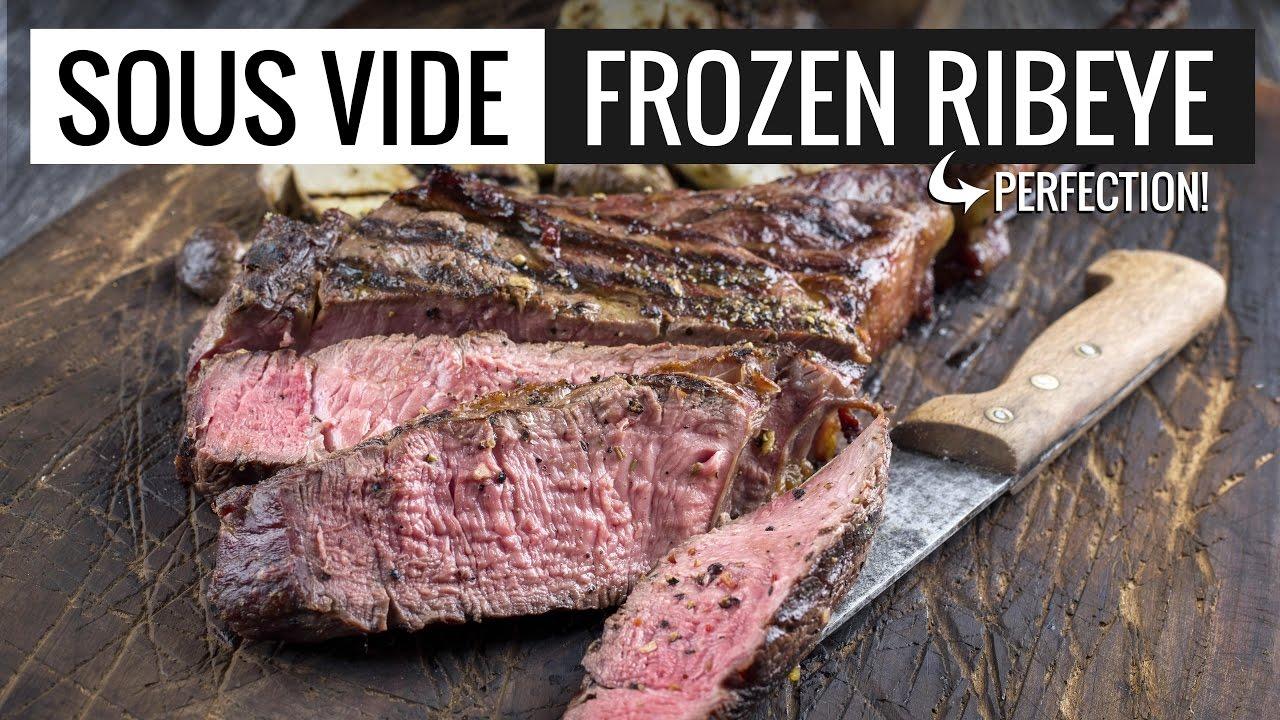 sous vide frozen ribeye perfection perfect rib eye steak. Black Bedroom Furniture Sets. Home Design Ideas