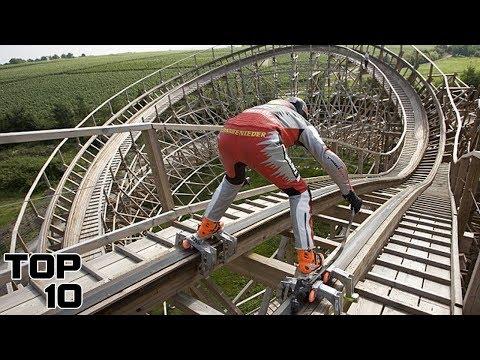 Top 10 Insane Roller Coaster Stunts