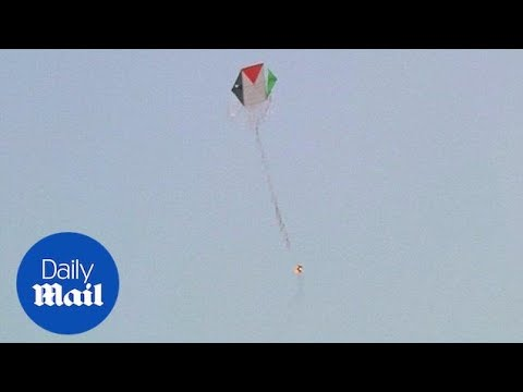 Palestinians send fire-starting kites across border to Israel - Daily Mail