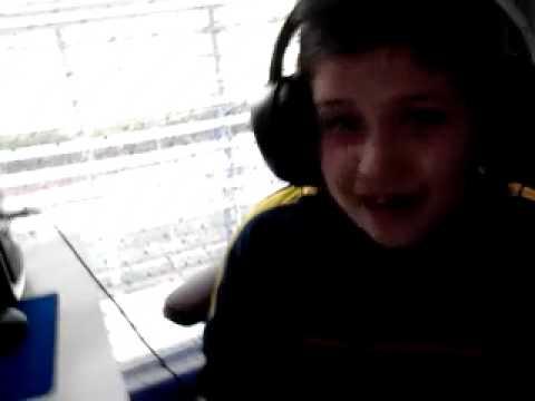 Autistic Aldin on the computer