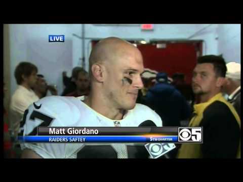 Matt Giordano. Post Oakland Raiders @ Chiefs