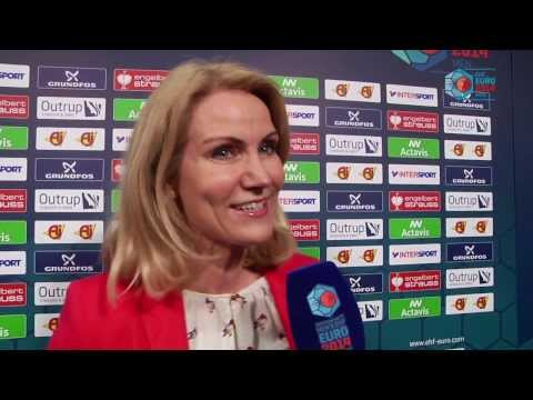 EHF EURO 2014   'Prime Time' with Helle Thorning-Schmidt