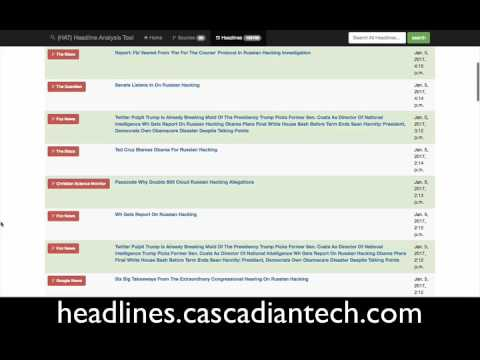 HAT the Headline Analysis Tool 01 05 17